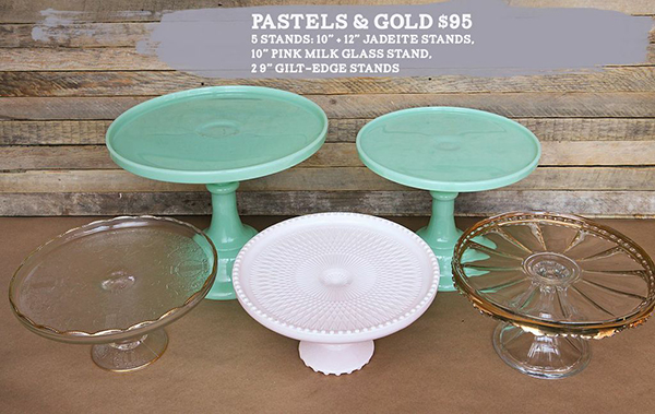 pastel and gold glass set