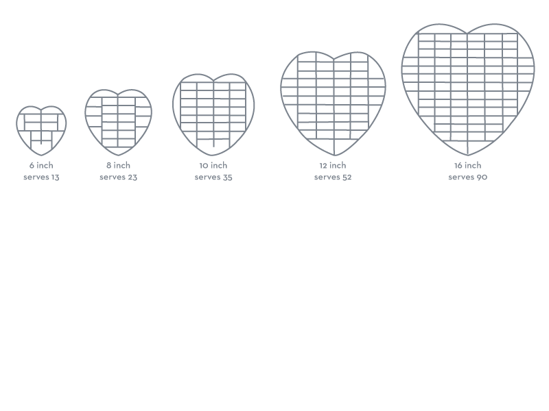 heart cakes cutting guide